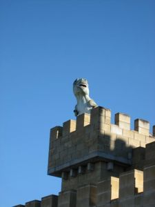 T-Rex on battlements