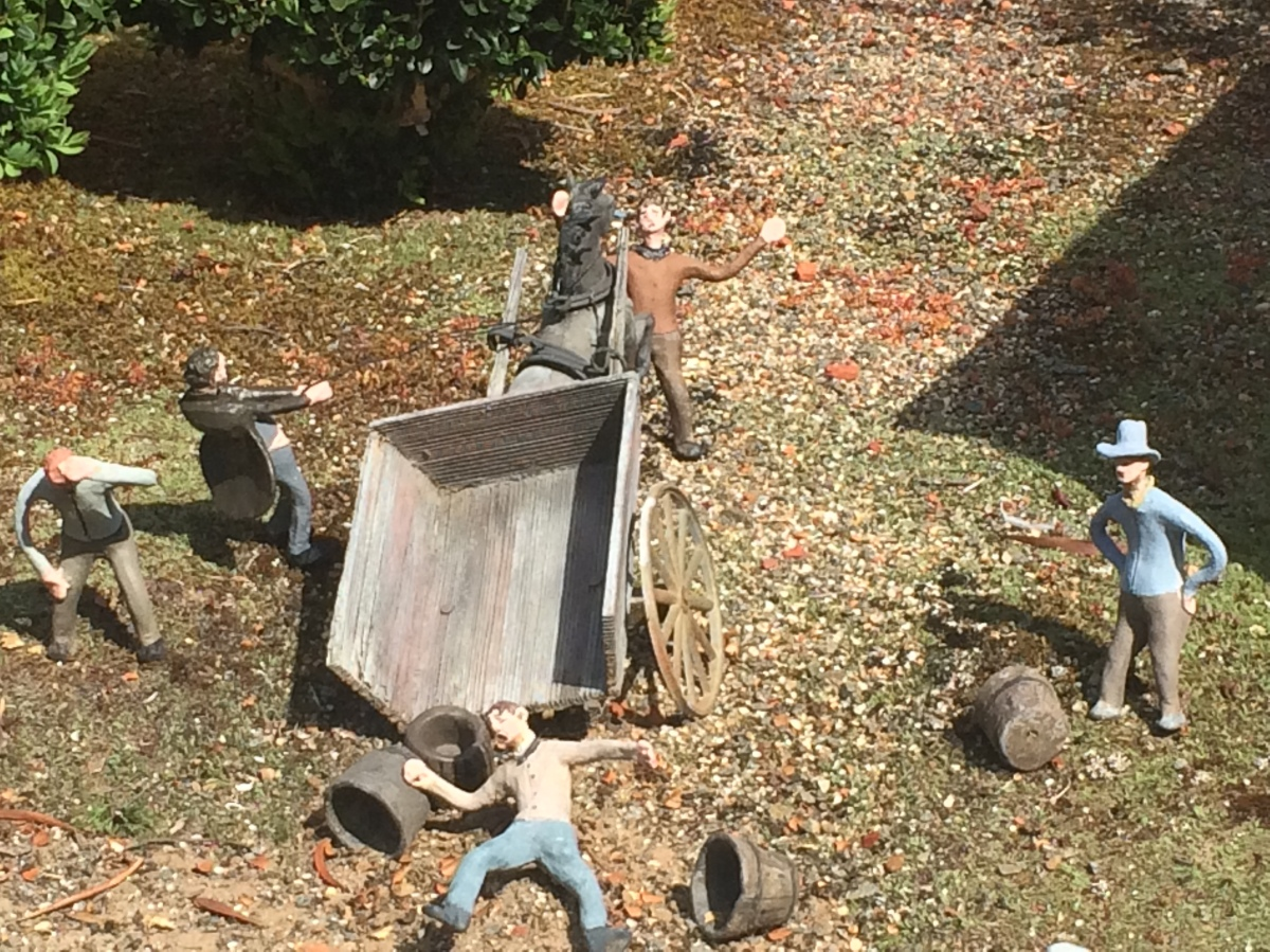 Miniature clay debauchery, crime and punishment at Old Hobart Town ...